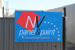 NV Panel and Paint Canberra and Queanbeyan Entrance